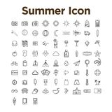 Summer Icon Set Royalty Free Stock Photography