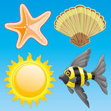 Summer icon set. Royalty Free Stock Image