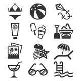 Summer icon set. Royalty Free Stock Images