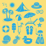 Summer icon. Stock Image