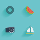 Summer icon Stock Images