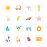 Summer icon set Stock Image