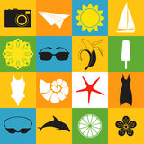 Summer. Icon Set Stock Images