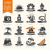 Summer icon set Stock Photo