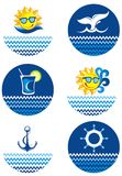 Summer Icon set Stock Photos