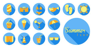 Summer icon and symbol Royalty Free Stock Images