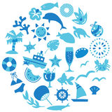 Summer icon Royalty Free Stock Image