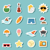 Summer icon vector Royalty Free Stock Photography