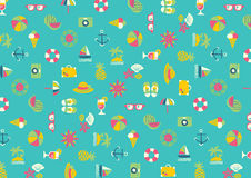 Summer Icon wallpaper Royalty Free Stock Image