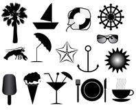 Summer icons Stock Photography
