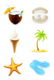 Summer icons vector illustration