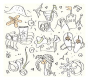 Summer icons. Set of vector illustrated summer icons Royalty Free Stock Image