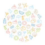 Summer Icons Background Royalty Free Stock Images