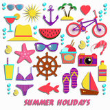 Summer icons collection Stock Photography
