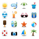 Summer Icons. This image is a vector illustration.Summer Icons Royalty Free Stock Photo