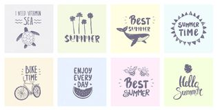 Set summertime Royalty Free Stock Image