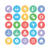 Summer  icons 1. We are offering a new set of summer icons pack. Optimise these icons in your vacations, beaches and travel projects, This pack contains swimming Stock Image