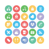 Summer  icons 2. We are offering a new set of summer icons pack. Optimise these icons in your vacations, beaches and travel projects, This pack contains swimming Royalty Free Stock Photography