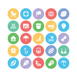 Summer  icons 5. We are offering a new set of summer icons pack. Optimise these icons in your vacations, beaches and travel projects, This pack contains swimming Royalty Free Stock Images