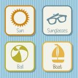 Summer icons Stock Photo