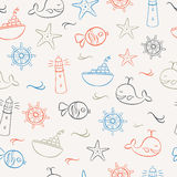 Summer Icons Seamless Pattern 2 Royalty Free Stock Photo