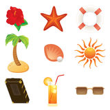 Summer icons set Royalty Free Stock Photo