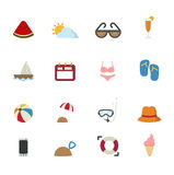 Summer Icons set Stock Photo