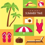 Summer icons set 2 Stock Images