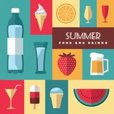 Summer icons set 3 Royalty Free Stock Image