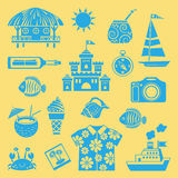 Summer icons. Stock Image