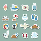 Summer icons set Royalty Free Stock Photography