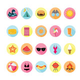 Summer icons set. Royalty Free Stock Image
