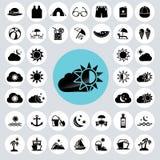 Summer icons set. Illustration eps10 Royalty Free Stock Photo