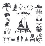 Summer icons set, vector illustration Royalty Free Stock Images