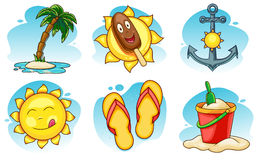Summer Icons Set Royalty Free Stock Photos