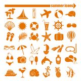 Summer icons set Royalty Free Stock Image