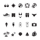 Summer Icons Set with White Background Royalty Free Stock Image