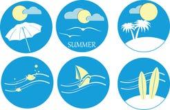 Summer icons Stock Photos