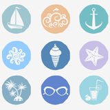 Summer icons Royalty Free Stock Image