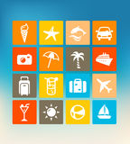 Summer Icons. User interface template with summer icons Stock Photos