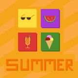 Summer Icons Vector Royalty Free Stock Images