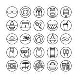Summer icons vector stock photography