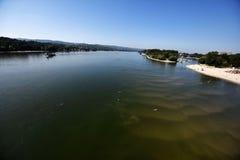 Summer idyll on the Danube river. Serbia,Novi Sad royalty free stock photography