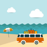 Summer illustrated background. Royalty Free Stock Photography
