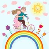 Summer illustration. Romantic summer illustration - cartoon Stock Photography