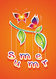 Summer  illustration. Abstract background. Can be used as postcards Royalty Free Stock Photography