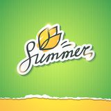 Summer illustration, vector eps 10 Stock Photography