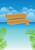 Summer illustration framework. 2d design of Summer illustration framework Stock Images