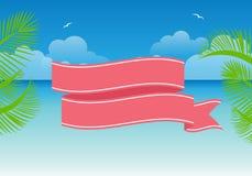 Summer illustration framework. 2d design of Summer illustration framework Royalty Free Stock Photography