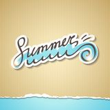 Summer illustration, vector eps 10 Stock Photography